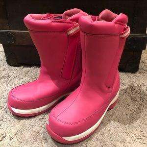 Lands End sz 1 pink girls snow ❄️ boots 👢 velcro